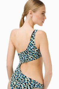 Asymetryczny jednoczęściowy strój kąpielowy Elisabetta Franchi