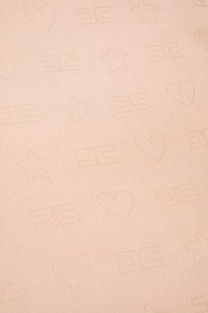 Chusta z logo Elisabetta Franchi 140cm x 140cm