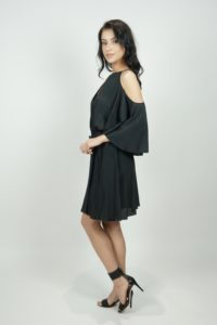 Sukienka z odkrytymi ramionami SPACE Simona Corsellini