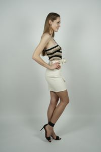 Asymetryczne body w paski Elisabetta Franchi