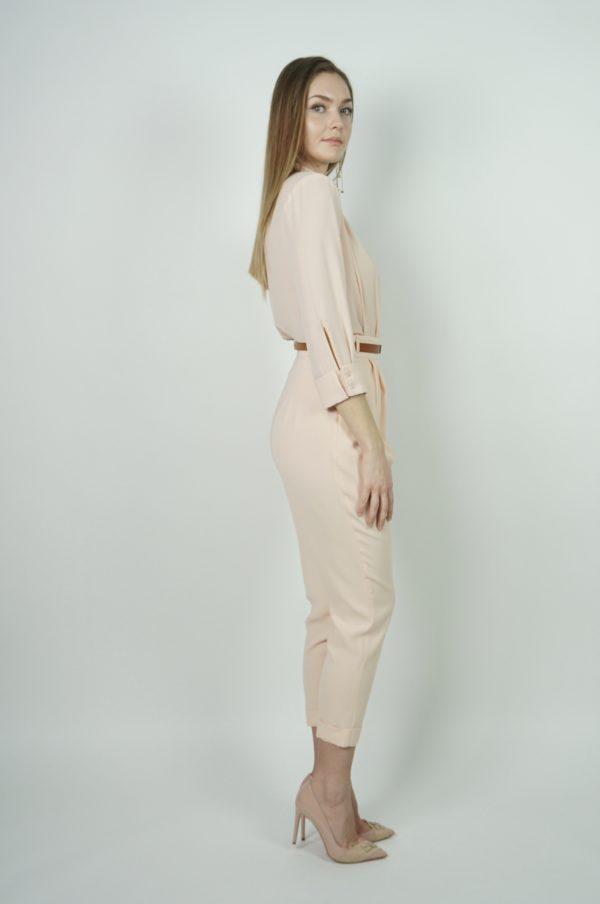 Spodnie z paskiem z ekologicznej skóry Elisabetta Franchi