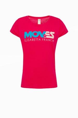 Sportowy t-shirt z linii MOVES Elisabetta Franchi