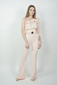Spodnie dzwony z ozdobnym paskiem Elisabetta Franchi