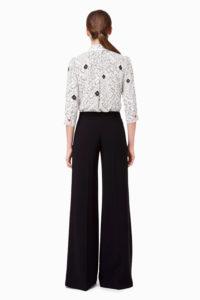Szerokie spodnie z ozdobnym łańcuszkiem Elisabetta Franchi