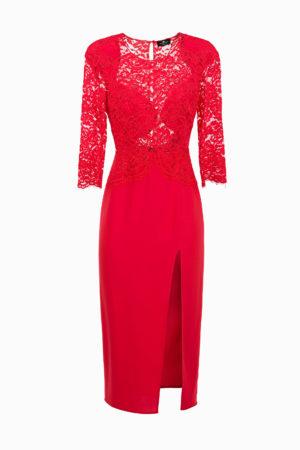 Sukienka midi z koronkową górą Elisabetta Franchi