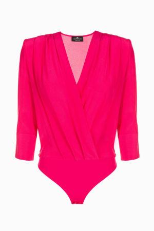 Bluzka w stylu bodysuit z tkaniny Crêpe de Chine Elisabetta Franchi