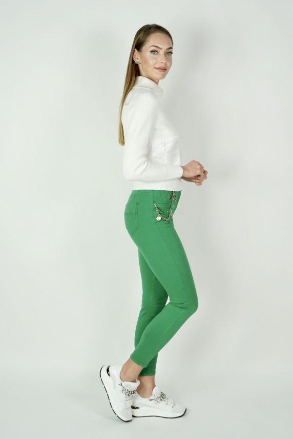 Spodnie jeansowe z charmsami ELISABETTA FRANCHI