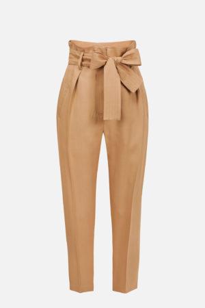 Gabardynowe spodnie z kokardą ELISABETTA FRANCHI