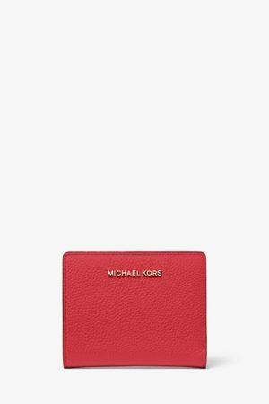 Mały skórzany czerwony portfel Michael Kors