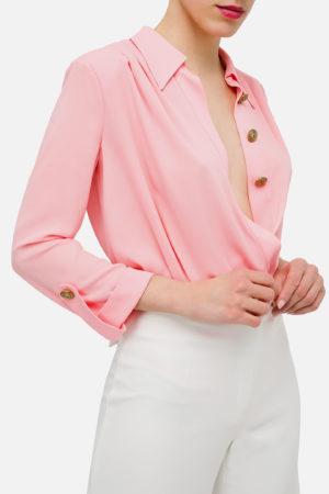 Kopertowa bluzka w stylu body ELISABETTA FRANCHI