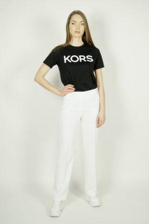 Białe szerokie spodnie Michael Kors