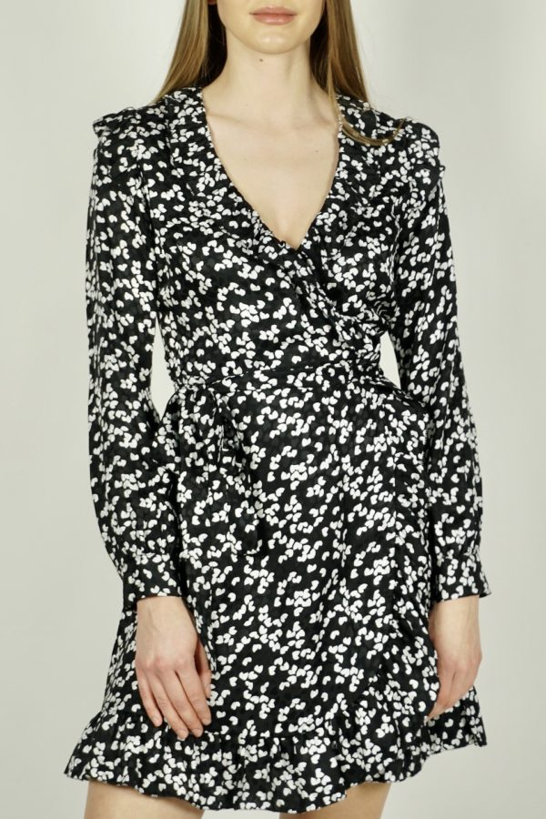 Kopertowa sukienka w serduszka Michael Kors