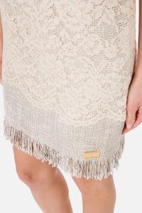 Koronkowa sukienka mini bez rękawów ELISABETTA FRANCHI