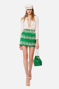 Mini sukienka z bluzką i haftami ELISABETTA FRANCHI