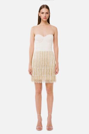 Mini sukienka z frędzlami